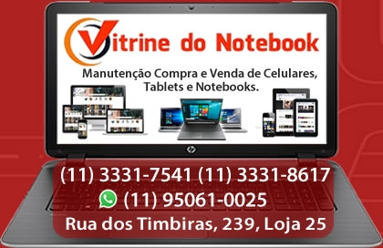 Vitrine do Notebook